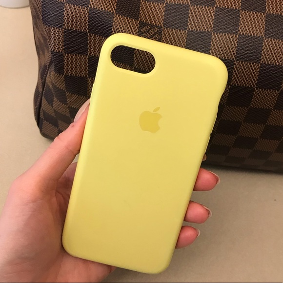 yellow silicone iphone 7 case